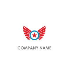 star wing emblem company logo vector image