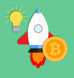 startup startup ideas bitcoin investments in ico vector image