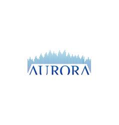 Stylish text aurora logo design vector