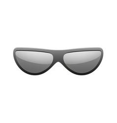 sunglasses icon black silhouette sun glasses vector image