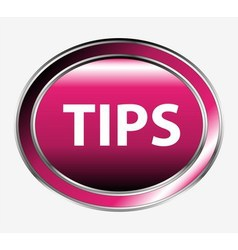 Tips button vector