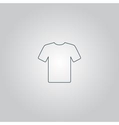 Tshirt Icon Flat design vector