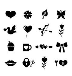 valentines set vector image
