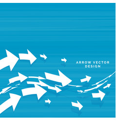 Wavy arrows moving forward concept design vector