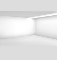 white empty room 3d modern blank interior vector image