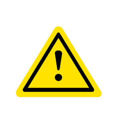 yellow warning dangerous attention icon icon vector image