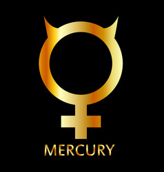 Zodiac and astrology symbol of the planet mercury vector
