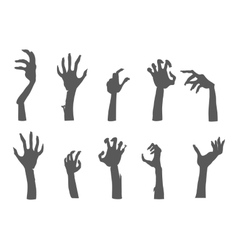 Zombie Hands Sticking out from the Ground vector