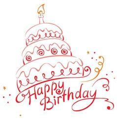Cake ans Happy Birthday vector image vector image