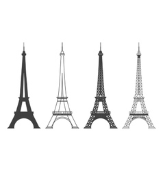 Eiffel Tower in Paris Silhouette vector image vector image
