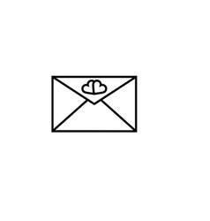 love envelope icon vector image