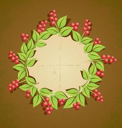 Retro plant berry vector image vector image