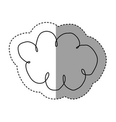 silhouette clound network service icon vector image