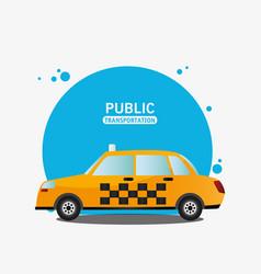 taxi car service public transport vector image vector image