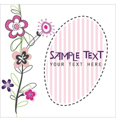 cute flower card vector image vector image