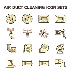 Duct cleaning icon vector