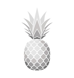 pineapple silver icon vector image