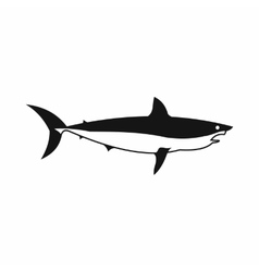 Shark icon simple style vector image