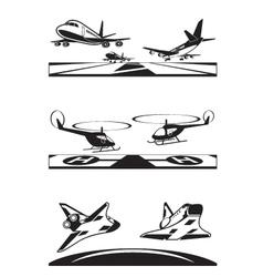 Air transportation set vector image vector image