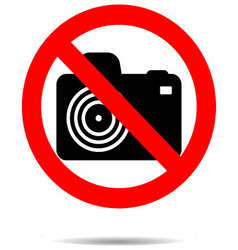 Ban photo icon label vector image vector image