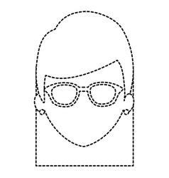beautiful woman head avatar character vector image vector image