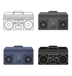 boombox icon in cartoon style isolated on white vector image
