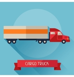 Cargo truck icon on background in flat design vector image vector image