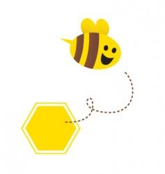 cartoon honey bee vector image vector image