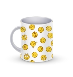 Coffee cup template with doodle vector