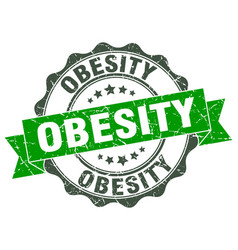 Obesity stamp sign seal vector