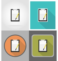 school education flat icons 02 vector image