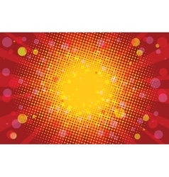 Warm Sunny carnival background vector image vector image