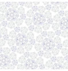 White background with ornament for fabrik vector image vector image