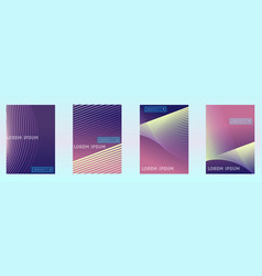 absract gradient geometric cover set vector image
