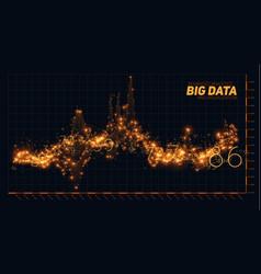 abstract financial big data graph vector image