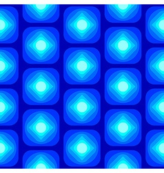 Abstract Round Square Seamless Pattern Blue vector image