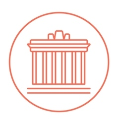 Acropolis of Athens line icon vector