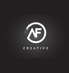 af circular letter logo with circle brush design vector image