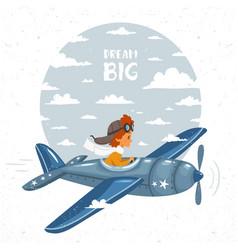 airplane boy vector image