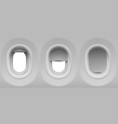 airplane portholes vector image