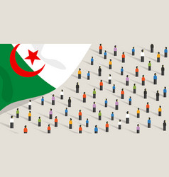Algerian independence anniversary celebration and vector