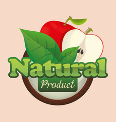 Apple natural product fruit poster vector