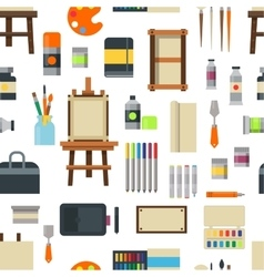 Art icons seamless pattern vector image