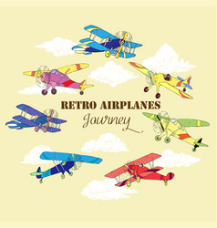 Backgr colored airplanes-061 vector