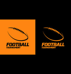 banner or emblem design with american football vector image
