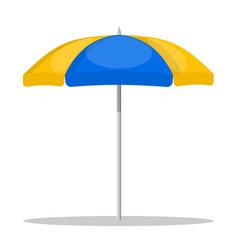 beach umbrella on white background vector image