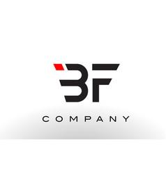bf logo letter design vector image