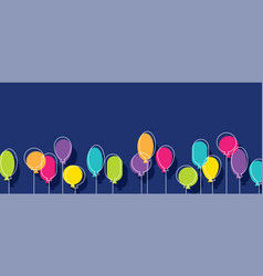 birthday party background with colorful balloons vector image