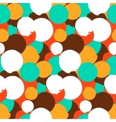 Bold polka dot pattern vector image