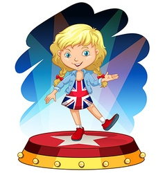 British girl on stage vector image